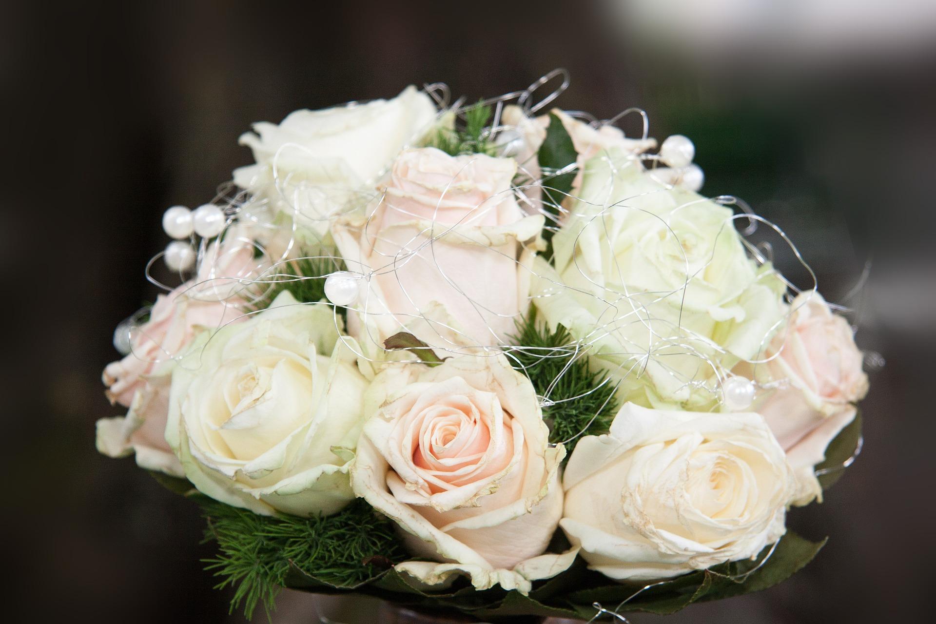 صورة بوكيه ورد ابيض , اجمل بوكيهات ورد للزفاف