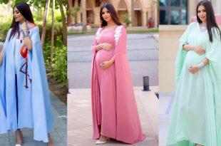 صور فساتين للحوامل , اجمل و احدث تصميمات فساتين الحوامل
