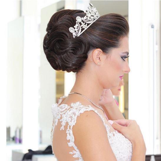 صورة تسريحات شعر عروس , تسريحات جميله للعروس