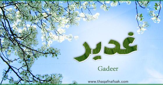 صورة معنى اسم غدير , تعرفي على معنى اسم غدير