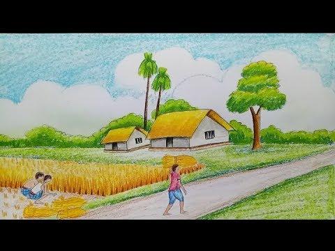 صورة رسم منظر طبيعي سهل للاطفال , رسومات سهلة للاطفال منظر طبيعي 1940 3
