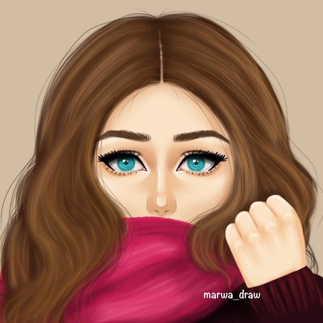 صورة رسومات بنات حلوه , صور رسومات بنات رقيقه وجميلة