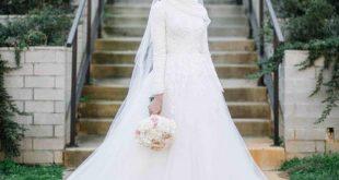 فساتين زفاف للمحجبات , اجمل موديلات فساتين الزفاف