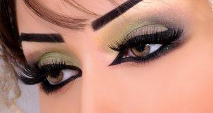 صورة مكياج عيون خليجي , تكحيل ومكياج عيون خليجي