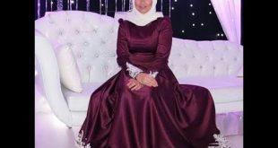صورة فساتين محجبات سواريه , اروع التصميمات الخاصه باللبس المحجبات