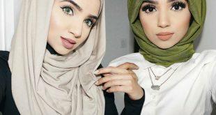 صورة طرق لف الحجاب , افضل واسهل الطرق لى لف الحجاب