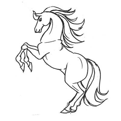 صورة صور رسومات حصان , ابرز صور توضح جمال الحصان
