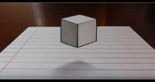 صور رسم ثلاثي الابعاد على الورق , كيفية الرسم ثلاثي الابعاد على الورق بسهولة