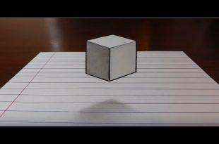 صورة رسم ثلاثي الابعاد على الورق , كيفية الرسم ثلاثي الابعاد على الورق بسهولة