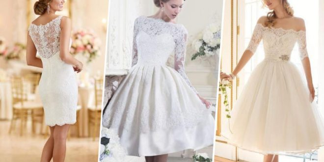 صورة فستان عرس قصير , لم اجد اجمل من الفساتين البيضاء للعرس
