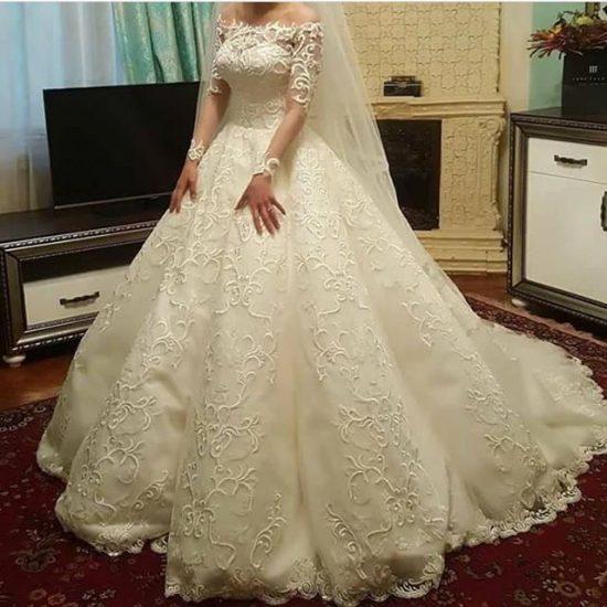 صورة فساتين بدلات اعراس , اجمل فساتين الزفاف في البلاد العربية والعالمية 10801 5
