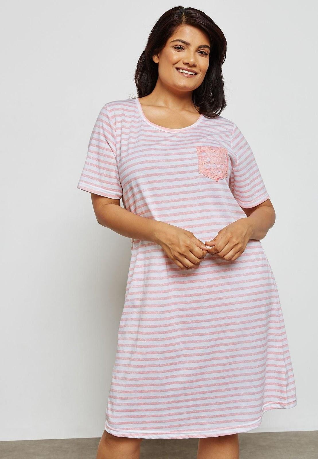 صورة قميص نوم طويل , اجمل قمصان النوم الطويلة ذات الالوان الجذابة