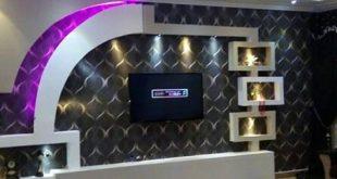 صورة ديكور جبس شاشات , شاهد ديكورات جبسية روعة لشاشة البلازما