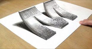 تعليم الرسم الثلاثي الابعاد , خطوات تعليم انك تقدر ترسم رسم بعادى ثلاثى