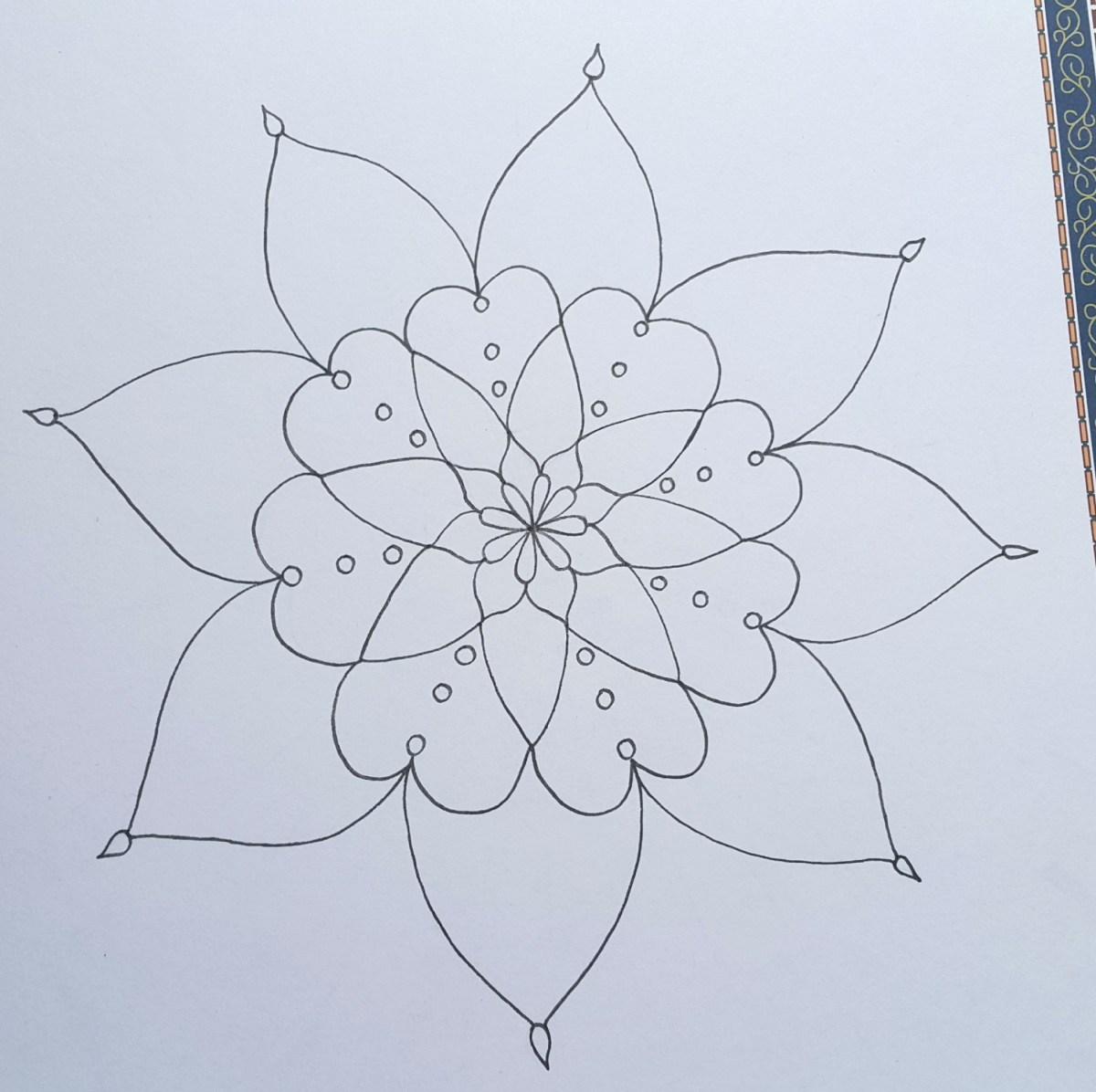 كيفية رسم زخرفة نباتية 2 How To Draw Mandala Youtube