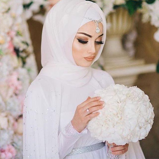 صورة احدث لفات طرح للعرائس , صور عرايس محجبات