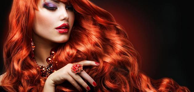 صورة شعر احمر ناري 10958 6