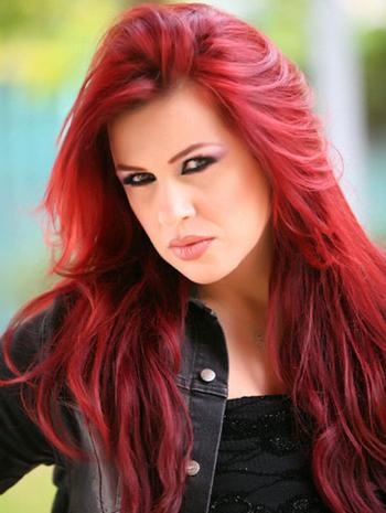 صورة شعر احمر ناري 10958 7