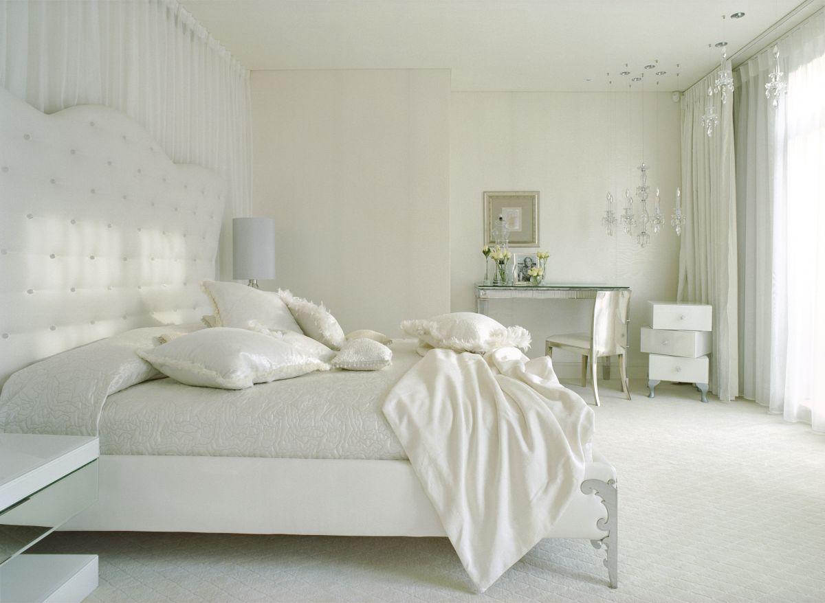 صورة غرف نوم بيضاء , شكل جديد وتصميم رائع ومميز لغرفه النوم 303 5