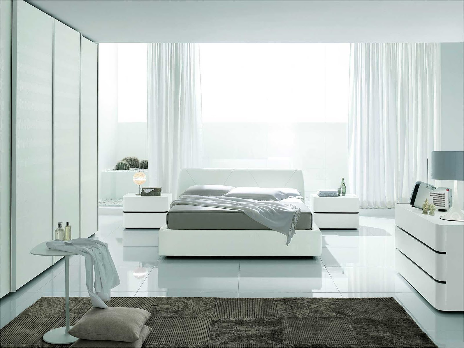 صورة غرف نوم بيضاء , شكل جديد وتصميم رائع ومميز لغرفه النوم 303 6