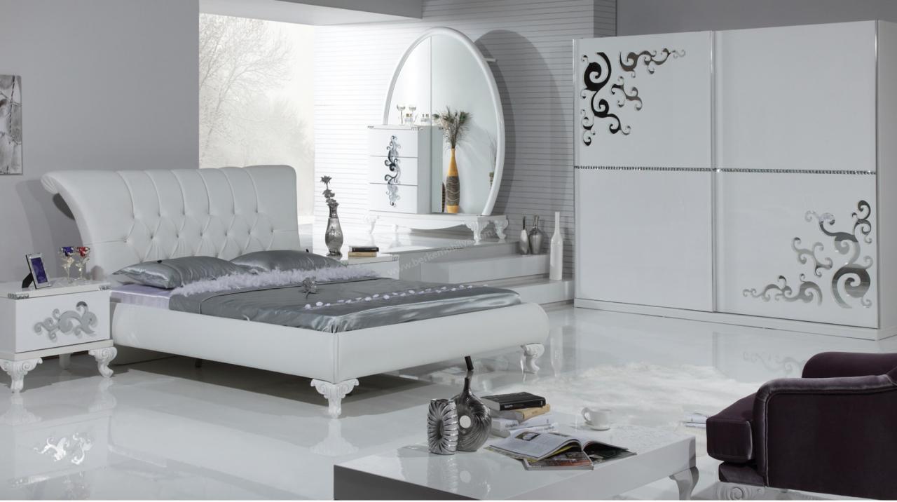 صورة غرف نوم بيضاء , شكل جديد وتصميم رائع ومميز لغرفه النوم 303 9